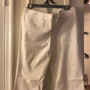 Banana republic white suit pants